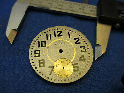 Watchmaker Estate Vintage New Old Stock Steel Dial for Hamilton 18s NOS 45.89mm