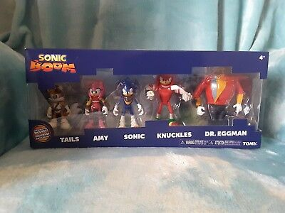 1 Official SONIC THE HEDGEHOG DISPLAY BOX 5 figures Dr Eggman Amy Tails Knuckles