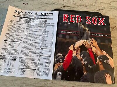 MLB-BOSTON RED SOX OPENING DAY BANNER RAISING & RING CEREMONY CHAMPIONS MAGAZINE