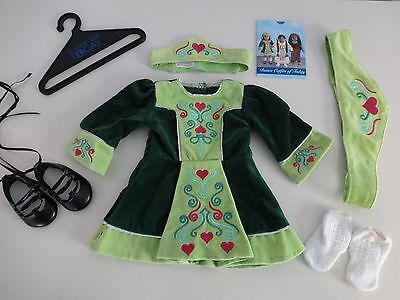 American Girl Doll IRISH DANCE OUTFIT of Today Nellie - COMPLETE Dress Shoes +
