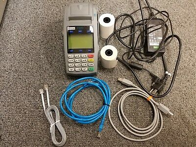 Firstdata Fd50 Cedit Card Terminal With Power Supply And Paper