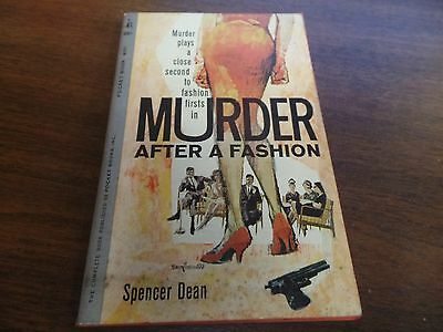 Murder After a Fashion Spencer Dean Pocket Book 1961 Mystery Novel 121415ame
