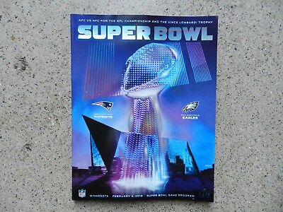 Super Bowl 52 LII Official Game Program Patriots vs Eagles (Stadium Edition)