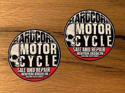 2x Vintage Custom Aufkleber Motorrad Biker Scrambler Bobber Cafe Racer V2 #474 (Aufkleber Custom)