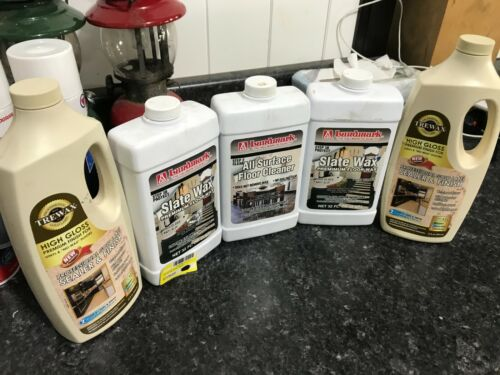 NEW 5-pack LOT Trewax Floor sealer High Gloss & Lundmark 3B Slate wax 32 Oz.