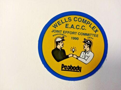 NICE OLD PEABODY COAL COMPANY COAL MINING STICKER