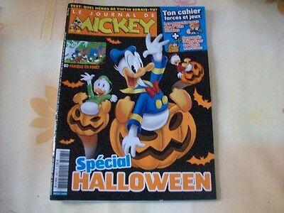 JOURNAL DE MICKEY N°3097 26 OCTOBRE 2011 SPECIAL HALLOWEEN CAHIER FARCES JEUX - Octobre Halloween