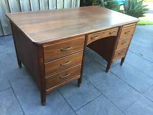 Antique office desk Belrose Warringah Area Preview