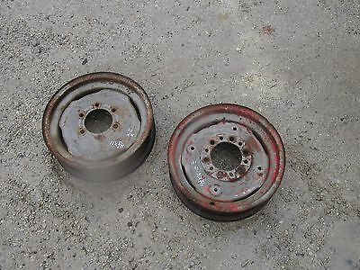 Massey Harris 90 Tractor Front 16 Press Steel Original Mh Rims 2 In This Set