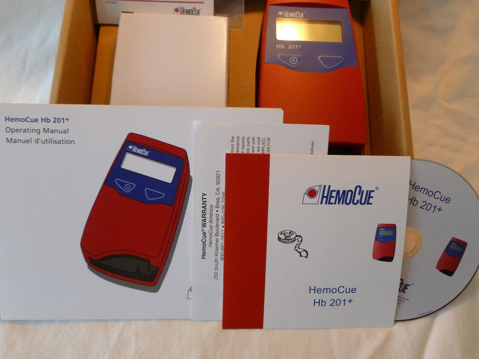 BRAND NEW IN BOX HB 201+ HEMOCUE ANALYZER 121721 HEMOGLOBIN METER LAB SYSTEM KIT
