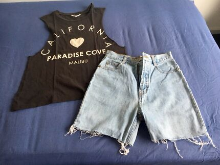 Summer outfit short crop top blouse