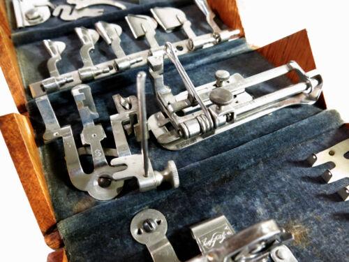 Restored Antique Singer Sewing Machine 1889 Oak Puzzle Box — Original Cloth