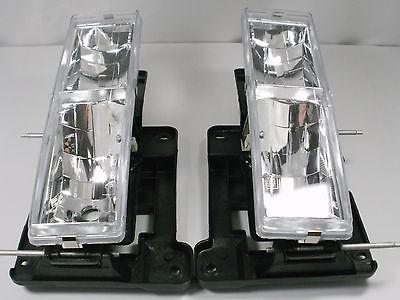 Chevy Silverado C1500 K2500 Tahoe GMC Sierra PAIR Headlights CLEAR 1989-1997