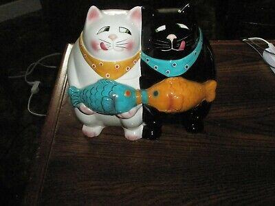 2 Cats (Black & White) Large Cookie Jar