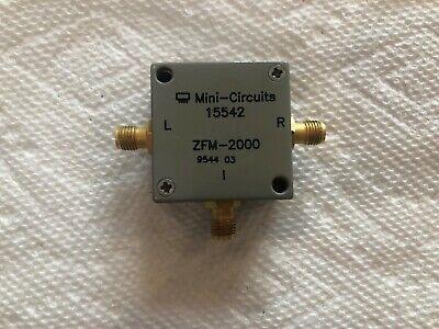 Mini-circuits Zfm-2000 Coaxial Frequency Mixer 100-2000 Mhz Dbl Bal  Sma Conn