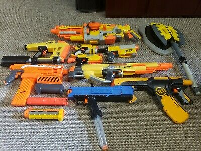 GIANT NERF LOT Vulcan ebf, stampede ecs, magstrike, XV-700, demolisher 2in1