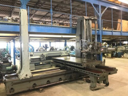 """5"""" GIDDINGS & LEWIS Table Type Horizontal Boring Mill, 350T, Tailstock, 108"""" X"""