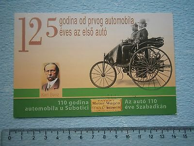 Karl Benz Auto Car Old Timer Photo Postcard Photo Motorwagen Ticket Collectors