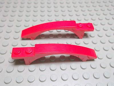Lego 4 x Bogenstein Brücke 50967 rot 8x1x1  8652 8143 8059