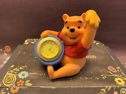 Fantasma Walt Disney 'Winnie The Pooh' Hunny Pot Miniature Clock Desk Office EUC