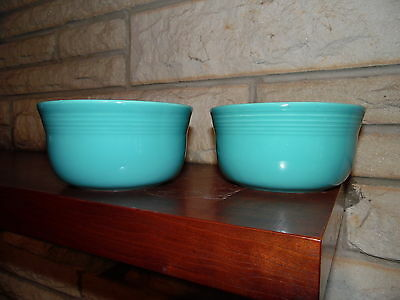 Fiesta Set Of 2 Gusto Bowls Turquoise  NEW Fiestaware