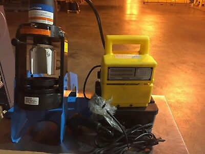 Eaton Et-1000-001 Hydraulic Crimper With Power Supply And Crimp Die