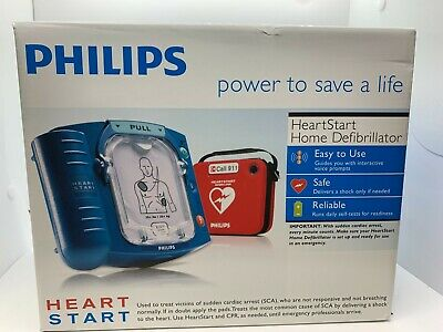 Philips Heartstart Home Defibrillator With Red Carry Case M5068a