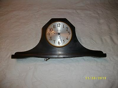 Vintage Sessions mantel clock camel back electric dark walnut case