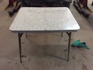 Antique retro chrome table.