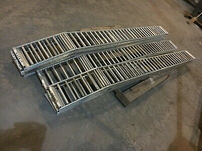 Span Track Carton Flow Gravity Roller Conveyor 9-12 X 114 Lot Of 6
