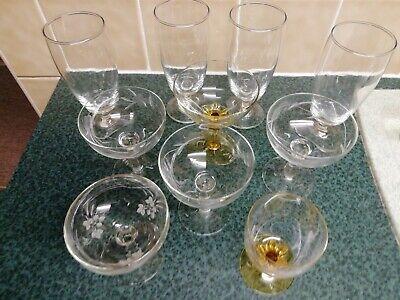 Vintage Cocktail Glasses Stemmed Champagne Gin Retro bundle