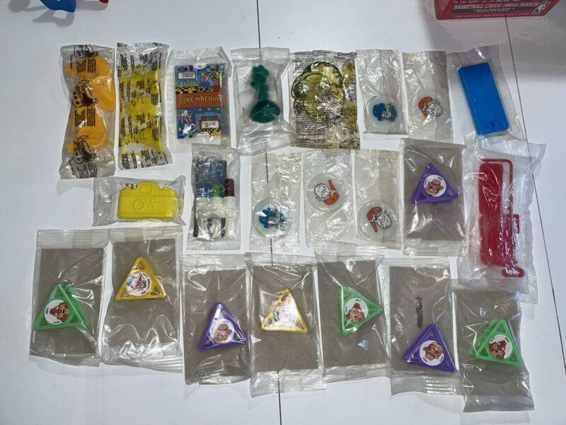 Vintage 1980s-90s Cereal Premium Prize Toys Sealed Lot Kelloggs Rescue Rangers