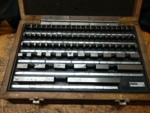 "Starrett Global Series RS81B 81 Piece Steel Gage Block Set .05""-4"" Complete"