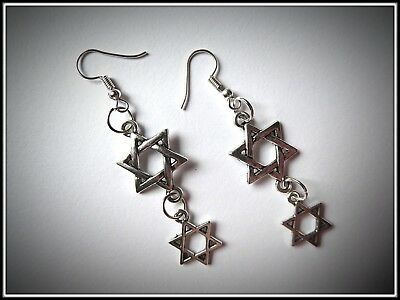 Double Charm Pentagram Earrings,Pierced,Fashion,Costume,Gift - Double Costumes Ideas