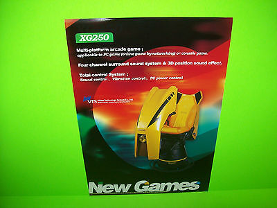 Vision Technology Xg250 Original Video Arcade Game Promo Flyer Vts Simulation