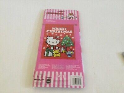 "Hello Kitty Merry Christmas Large House/Garden Flag 28""X40"" Polyester NEW"