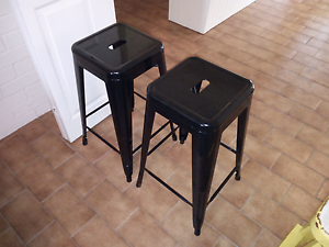 2 black metal bar stools Oak Flats Shellharbour Area Preview