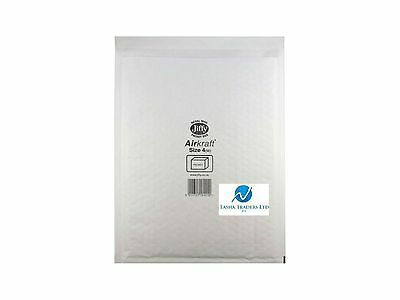 50 JL4 White 270 x 335mm Bubble Padded JIFFY AIRKRAFT Postal Bag Envelope
