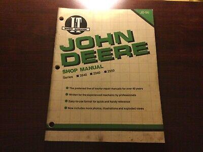 John Deere It Shop Manual Jd-56 For John Deere 2840 2940 2950