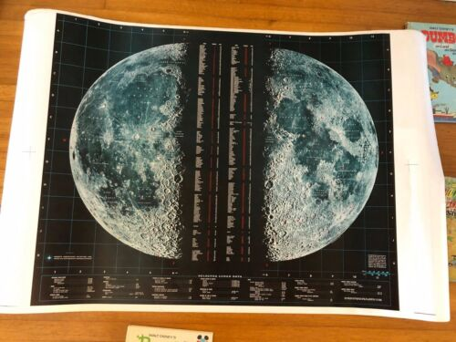 LUNAR MOON PHOTO MAP  BY SPACE SCIENCE LAB. N.A.AVIATION, INC.