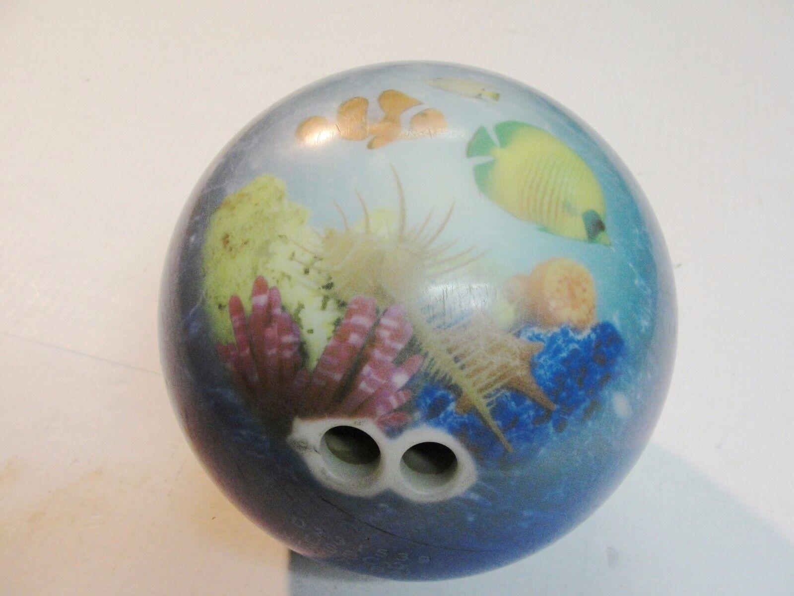 Brunswick Bowling Ball 15 Lb Viz-a-ball Ocean Sea Life Bowling Ball Usbc