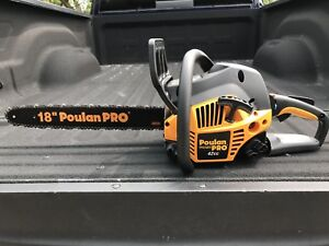 Poulan Pro 42 cc Chainsaw and Case