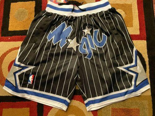 Orlando Magics Just Don Black and Blue Pinstripe Mens Team Short Summer League