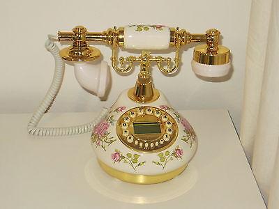 Classical Telephone Set Ceramic Vintage 60