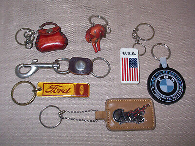 Lot vintage key fobs keychains key rings advertising