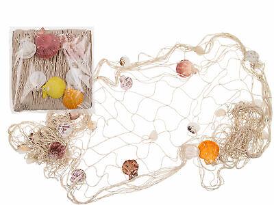 Fischernetz mit Muscheln Meeresdeko Nordsee Strand maritim Fischnetz Dekoration