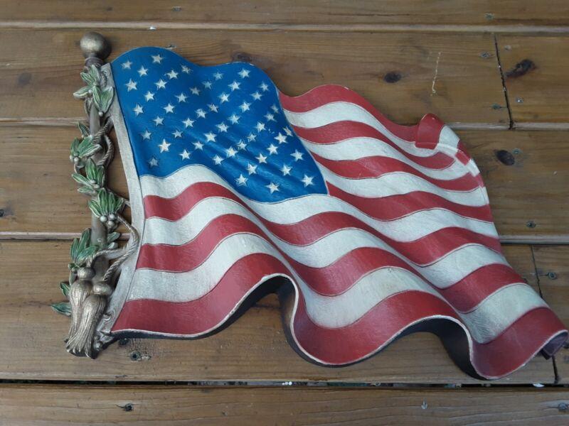 Vintage Burwood American Flag Wall Hanging