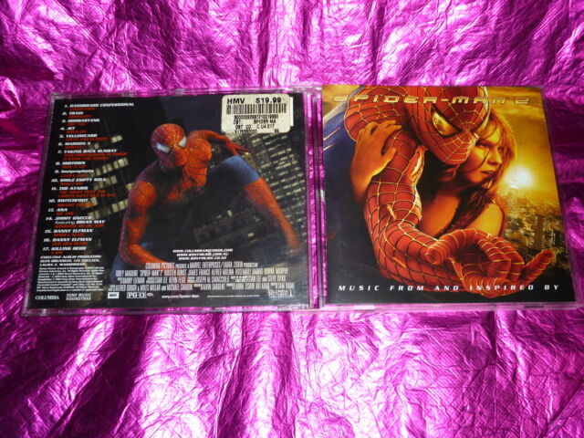 SPIDER-MAN 2 MUSIC FROM AND INSPIRED BY : (CD, 17 TRACKS, 2004)