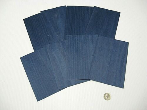 1 Lot Of 8pcs Dyed Blue Raw Veneer Shorts, Lot #631
