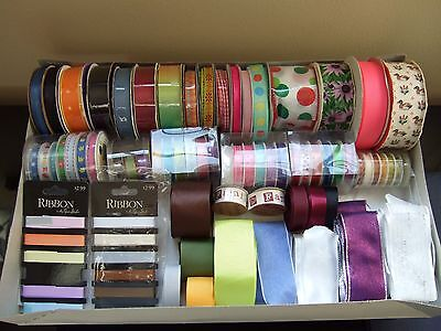 Lots of ribbon for sewing scrapbooking giftwrapping